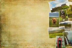 Imágenes del collage de Escocia Fotos de archivo libres de regalías