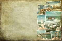 Imágenes del collage de Escocia Imagenes de archivo