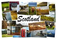 Imágenes del collage de Escocia Foto de archivo libre de regalías