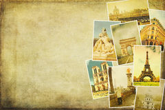 Imágenes del collage de París Foto de archivo libre de regalías