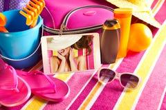 Imágenes del día de fiesta en la tableta Imagen de archivo libre de regalías