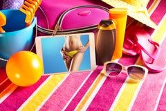 Imágenes del día de fiesta en la tableta Foto de archivo libre de regalías