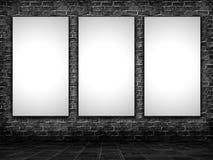 imágenes del espacio en blanco 3D en un interior del grunge Imagen de archivo libre de regalías