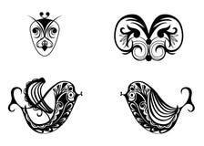 Imágenes del tatuaje de las muestras Imagen de archivo