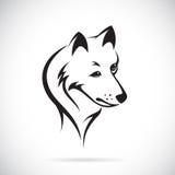 Imágenes del vector de la cabeza del lobo Imagen de archivo
