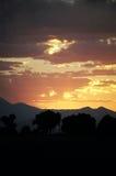 Imágenes en nubes de la puesta del sol Fotos de archivo libres de regalías