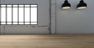 Imágenes interiores de la representación 3d Fotografía de archivo libre de regalías