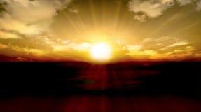Imágenes naturales de la puesta del sol hermosa Fotografía de archivo libre de regalías