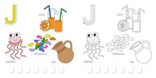 Imágenes para la letra J Imagen de archivo libre de regalías