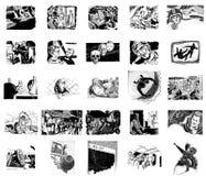 Imágenes retras de la ciencia ficción Imagen de archivo libre de regalías