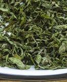 Imágenes secadas de la menta, naturales y orgánicas de la menta fresca, salsa de menta secada en la imagen para hacer la sopa, me Imagen de archivo