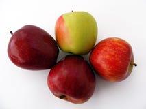 Imágenes verdes rojas de la manzana para su logotipo y diseños Imagen de archivo libre de regalías