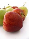 Imágenes verdes rojas de la manzana para su logotipo y diseños Fotografía de archivo libre de regalías