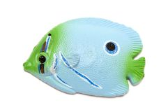 Imán azul de los pescados Imágenes de archivo libres de regalías