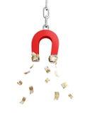 Imán para el dinero euro ilustración del vector