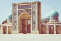 A imã Square Hazrati Imam de Hast é um centro religioso de Tashken fotos de stock