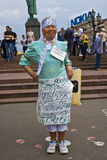 Im 80 years old. Aged opposition activist on the March of Millions in Moscow. The inscriptions are: Im 80 years old, Power of millions, not millionaires, Free Royalty Free Stock Photos