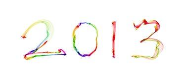2013 im abstrakten Rauche Lizenzfreie Stockbilder