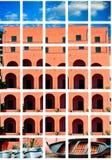 Im altem Stil errichtende Fassadenarchitektur stockbilder