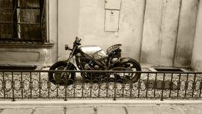 Im altem Stil Fahrrad Stockbild