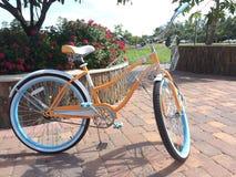 im altem Stil Fahrrad rétro Blick Stockfotografie