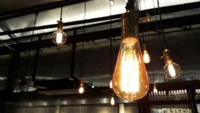 Im altem Stil Glühbirnen Stockfotografie