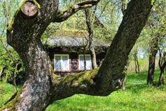 Im altem Stil Moravian-Häuschen Stockbild