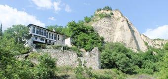 Im altem Stil traditionelles bulgarisches Haus in Melnik lizenzfreies stockfoto