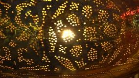 Im altem Stil Weinlesekunstlampe stock footage