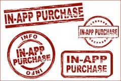 Im APP-Kauftinten-Stempelsatz lizenzfreie abbildung