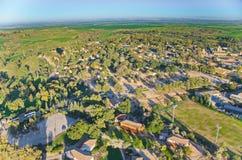 Im Ballon aufsteigen über Israel - Vogelschau von Israel nach dem rai lizenzfreies stockfoto