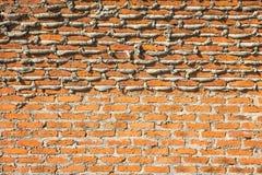 Im Bau Backsteinmauer Lizenzfreie Stockfotografie