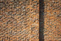 Im Bau Backsteinmauer Lizenzfreie Stockfotos