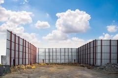 im Bau Bereich (Gus der Metallhochbau herein Lizenzfreie Stockbilder