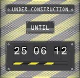 Im Bau Count-downtimer mit Hintergrund Lizenzfreies Stockbild