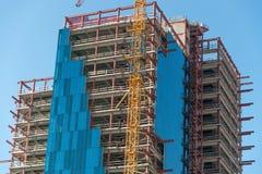 Im Bau errichten Stockfoto