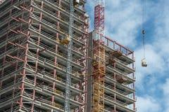 Im Bau errichten Stockbild