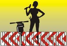 Im Bau - Frauen bei der Arbeit Stockbilder