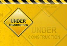 Im Bau Hintergrund Lizenzfreies Stockbild