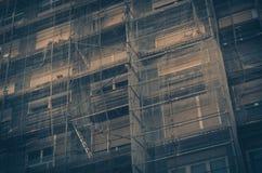 Im Bau Hintergrund stockfotografie