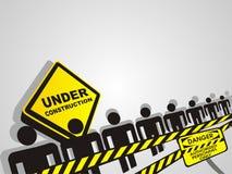 Im Bau Hintergrund Lizenzfreies Stockfoto