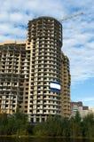 Im Bau modernes Haus Stockfotos