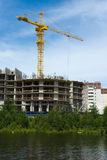 Im Bau modernes Haus Stockbild