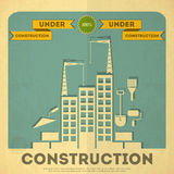 Im Bau Plakatdesign Stockfotografie