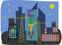 Im Bau Stadt Stockfotos