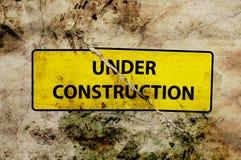 Im Bau Trennungszeichen Lizenzfreies Stockbild