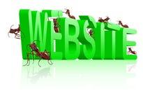 Im Bau Web-Entwicklung der Web site Lizenzfreies Stockfoto