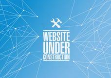 im Bau Werkzeugzeichen der Website Lizenzfreies Stockbild