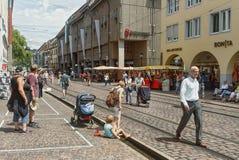 弗莱堡IM BREISLAU, GERMANY-JUNE 25,2015 库存照片