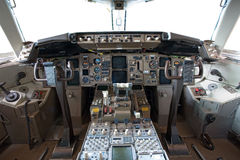 Im Cockpit Stockfotos